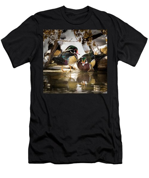 Winter Visitors - Wood Ducks Men's T-Shirt (Athletic Fit)