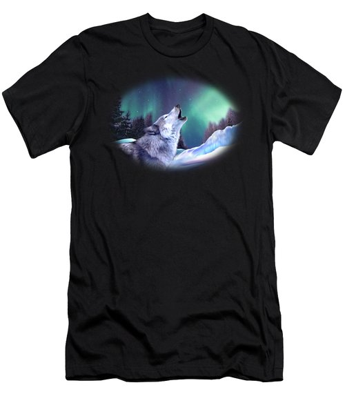 Winter Wolf Men's T-Shirt (Athletic Fit)