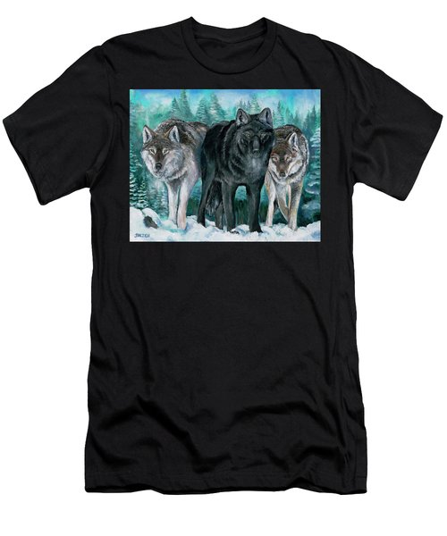 Winter Wolves Men's T-Shirt (Athletic Fit)