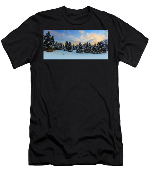Men's T-Shirt (Slim Fit) featuring the photograph Winter Wonderland  by Emmanuel Panagiotakis