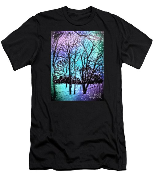Winter Wonderland Painting Men's T-Shirt (Athletic Fit)