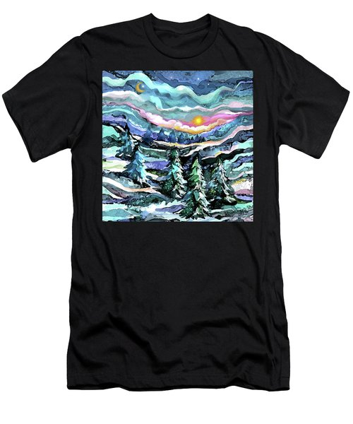 Winter Woods At Dusk Men's T-Shirt (Athletic Fit)