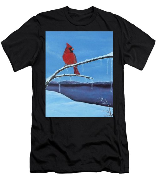 Winter's Red Men's T-Shirt (Athletic Fit)