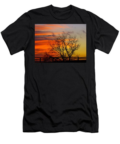 Men's T-Shirt (Slim Fit) featuring the photograph Winter's Scene by Donald C Morgan