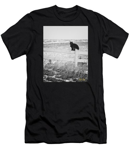 Men's T-Shirt (Athletic Fit) featuring the photograph Winter's Stalker by Rikk Flohr