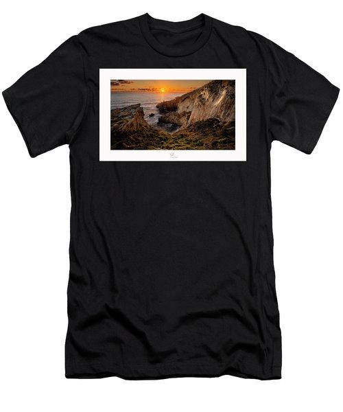 Winter's Sunset Men's T-Shirt (Athletic Fit)