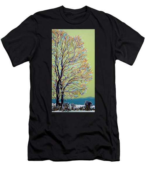Wintertainment Tree Men's T-Shirt (Athletic Fit)