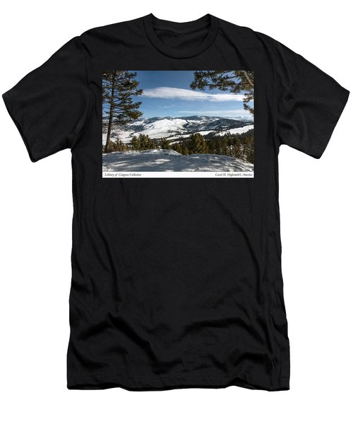 Men's T-Shirt (Slim Fit) featuring the photograph Wintertime View From Hellroaring Overlook In Yellowstone National Park by Carol M Highsmith