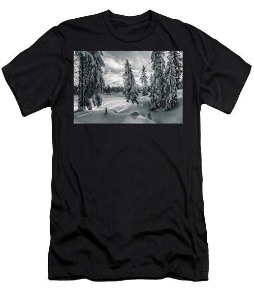 Winter Wonderland Harz In Monochrome Men's T-Shirt (Athletic Fit)