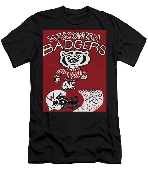 Wisconsin Badgers Men's T-Shirt (Athletic Fit)