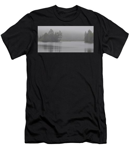 Wisconsin In Grey And Green Men's T-Shirt (Athletic Fit)
