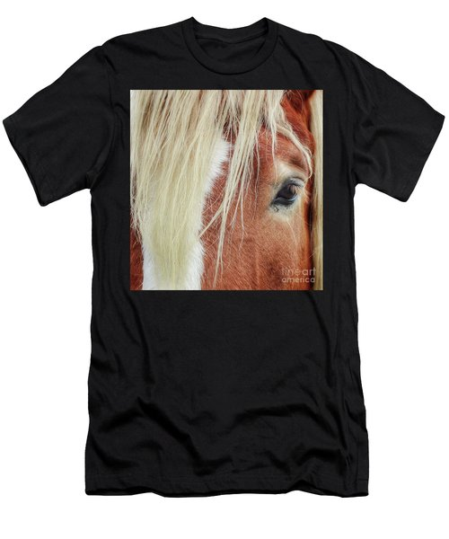 Wise One   White Mane Men's T-Shirt (Athletic Fit)