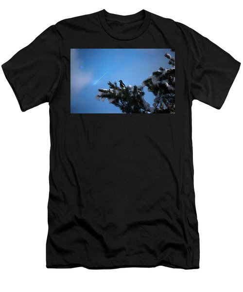 Wish Upon A Shooting Star Men's T-Shirt (Athletic Fit)