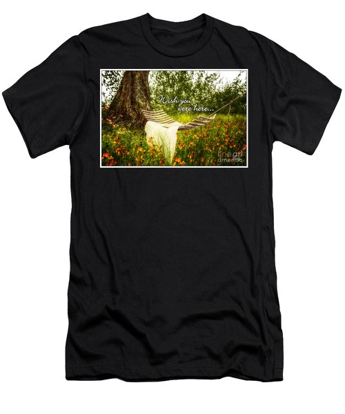 Wish You Were Here 140629 Postcard Style Men's T-Shirt (Athletic Fit)