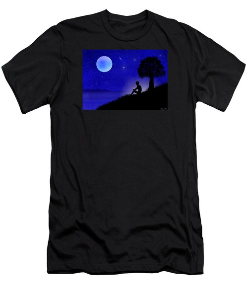 Men's T-Shirt (Slim Fit) featuring the digital art Wish You Were Here by Bernd Hau
