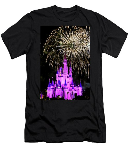 Wishes Fireworks Disney World  Men's T-Shirt (Athletic Fit)