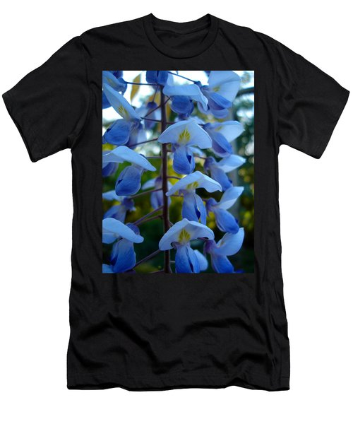 Wisteria - Blue Hooded Ladies Men's T-Shirt (Athletic Fit)