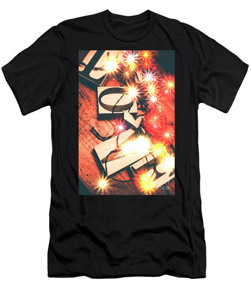 With Love And Lights Men's T-Shirt (Athletic Fit)