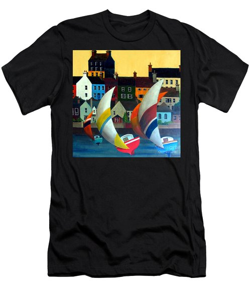 With The Wind In Kinsale, West Cork Men's T-Shirt (Athletic Fit)