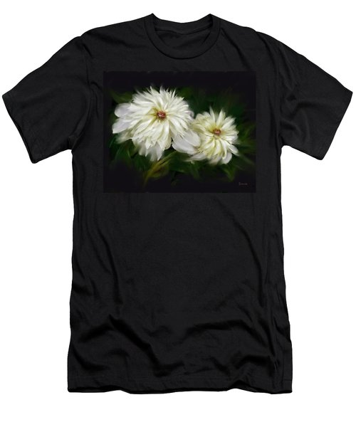 Men's T-Shirt (Slim Fit) featuring the painting Withering Peony by Bonnie Willis