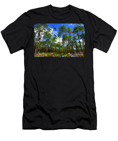 Withlacoochee State Forest Nature Collage Men's T-Shirt (Athletic Fit)
