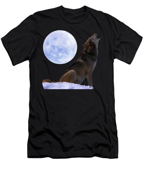 Wolf Howling Men's T-Shirt (Athletic Fit)