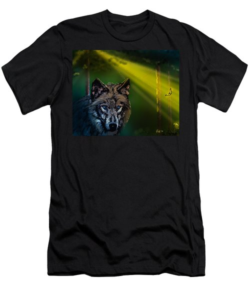 Wolf Of The Dark Wood Men's T-Shirt (Slim Fit) by J Griff Griffin