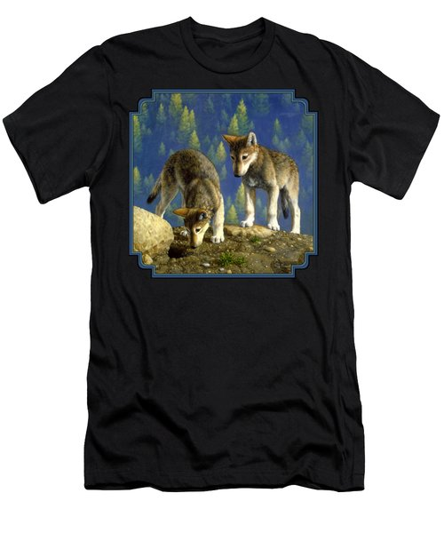 Wolf Pups - Anybody Home Men's T-Shirt (Athletic Fit)