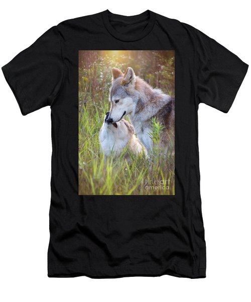 Wolf Soul Mates Men's T-Shirt (Athletic Fit)