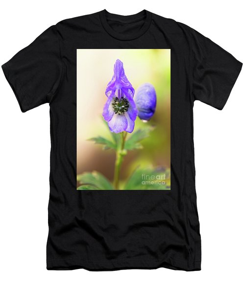 Men's T-Shirt (Athletic Fit) featuring the photograph Wolf's Bane Flower Plant by Nick Biemans