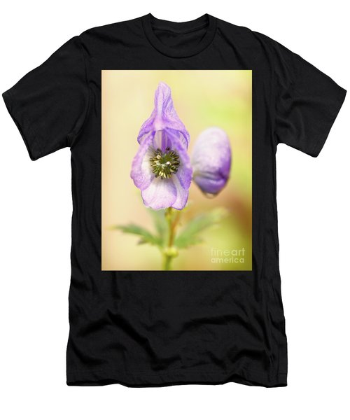 Men's T-Shirt (Athletic Fit) featuring the photograph Wolf's Bane Flower With Pistils by Nick Biemans