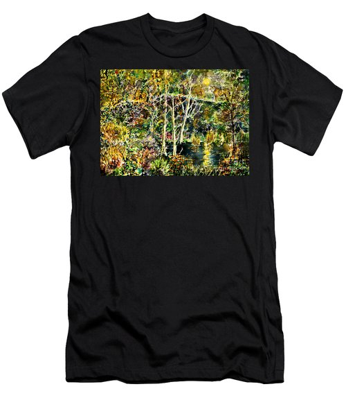 Wolven Moon Men's T-Shirt (Athletic Fit)