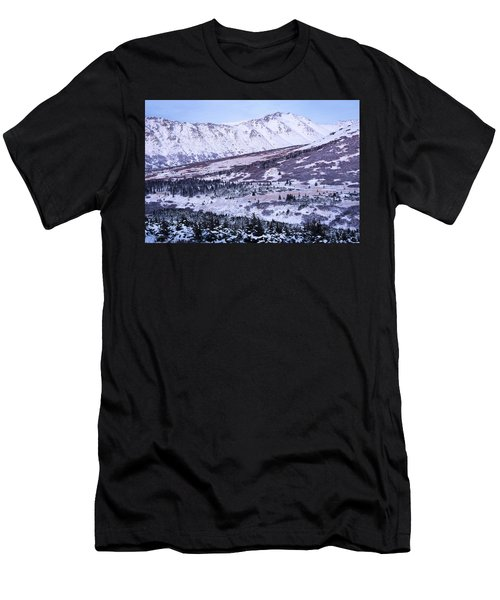Men's T-Shirt (Athletic Fit) featuring the photograph Wolverine In Alpenglow by Tim Newton