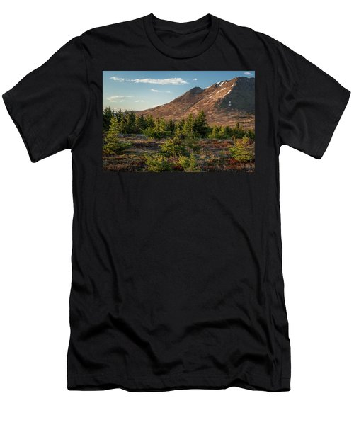 Men's T-Shirt (Athletic Fit) featuring the photograph Wolverine Mt Near Sunset by Tim Newton