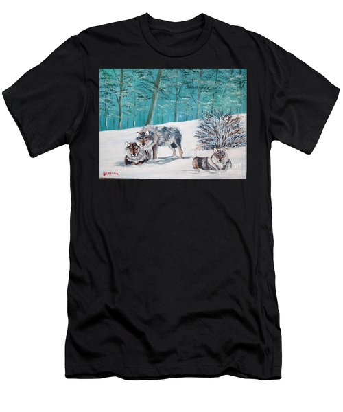 Wolves In The Wild Men's T-Shirt (Athletic Fit)