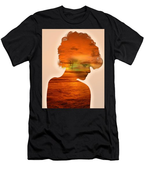 Woman And A Sunset Men's T-Shirt (Athletic Fit)