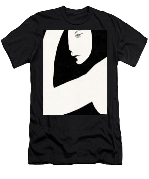 Woman In Shadows Men's T-Shirt (Athletic Fit)
