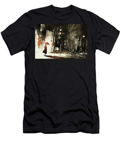 Woman In The Destroyed City Men's T-Shirt (Athletic Fit)