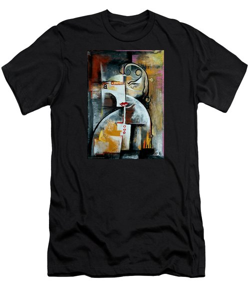 Men's T-Shirt (Slim Fit) featuring the painting Woman by Kim Gauge