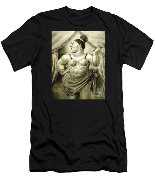 woman performer Botero Men's T-Shirt (Athletic Fit)