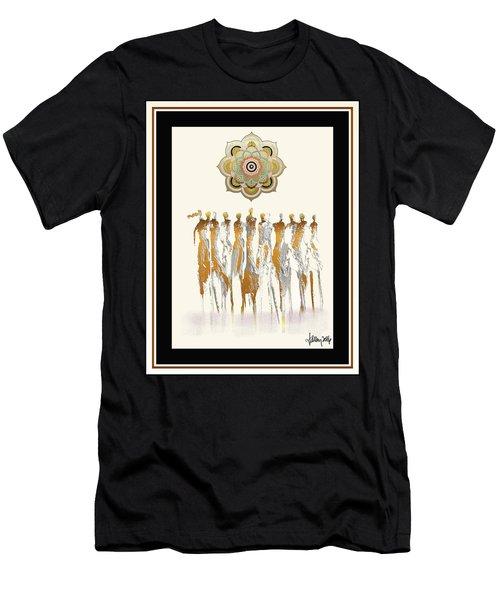 Women Chanting Mandala Men's T-Shirt (Athletic Fit)