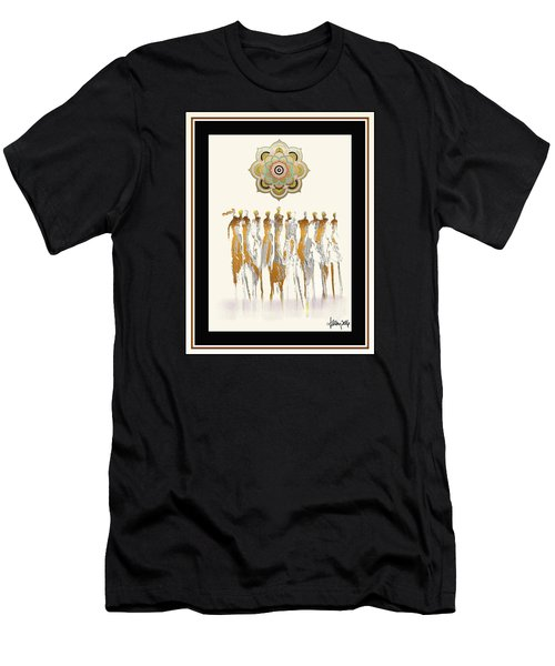 Women Chanting Mandala Men's T-Shirt (Athletic Fit)