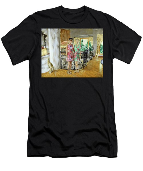 Men's T-Shirt (Athletic Fit) featuring the painting Women In Sunroom by Ryan Demaree