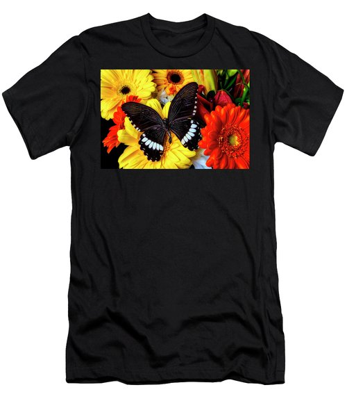 Wonderful Black Butterfly Men's T-Shirt (Athletic Fit)