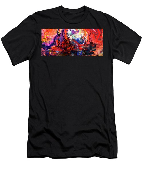 Wonderland - Colorful Abstract Art Painting Men's T-Shirt (Athletic Fit)