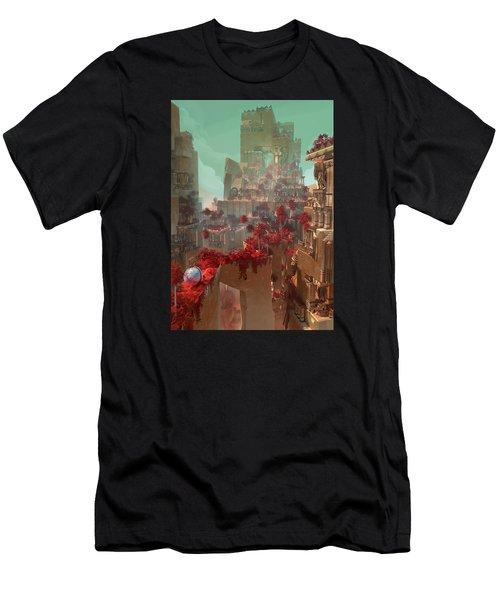 Wonders Hanging Garden Of Babylon Men's T-Shirt (Athletic Fit)
