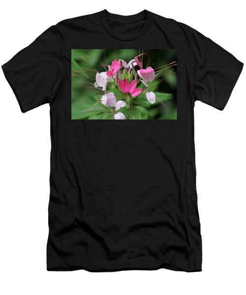 Men's T-Shirt (Athletic Fit) featuring the photograph Wonders Of Cleome by Deborah  Crew-Johnson