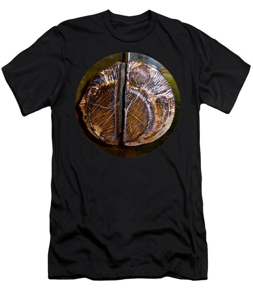 Men's T-Shirt (Athletic Fit) featuring the photograph Wood Carved Fossil by Francesca Mackenney