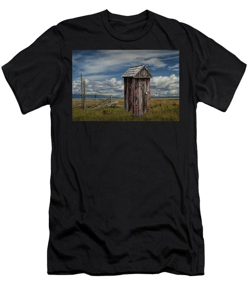 Wood Outhouse Out West Men's T-Shirt (Athletic Fit)