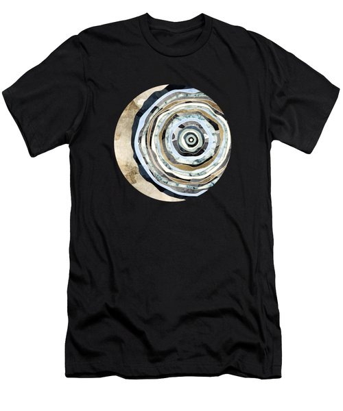 Wood Slice Abstract Men's T-Shirt (Athletic Fit)